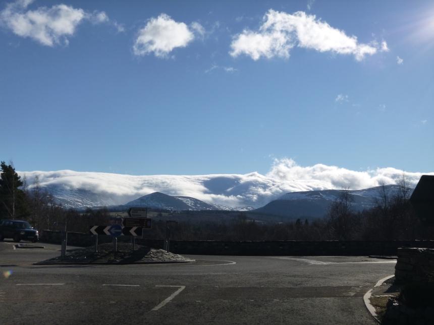 Amazing blanket of cloud over Cairngorm
