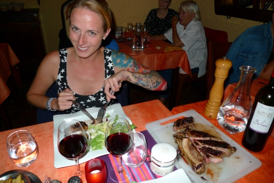 Steak for two at Le Grange