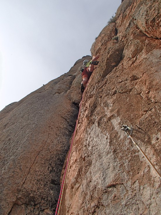 Steep last pitch was 54m!