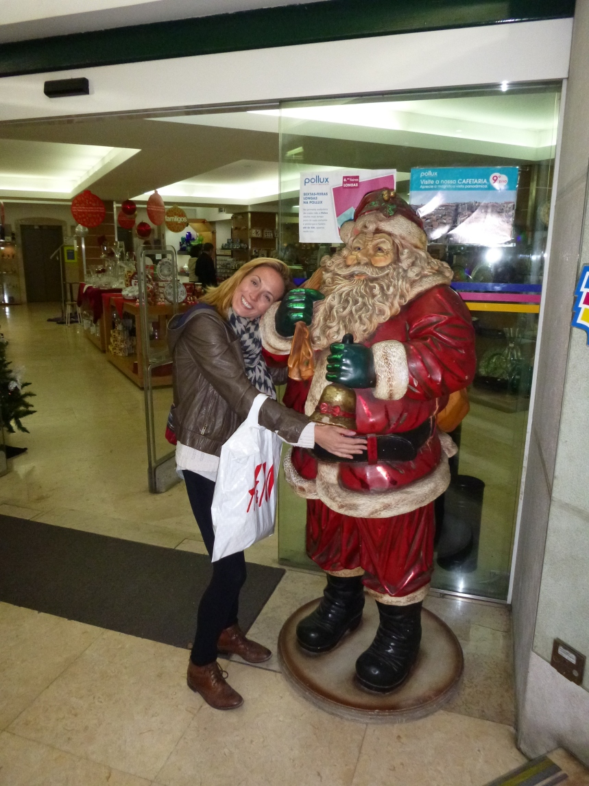 Jane cant wait for Crimbo - Portuguese father Christmas in Lisbon