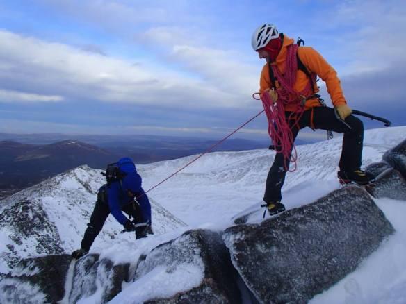 Patagonia Knifeblade Jacket working hard in Scotland