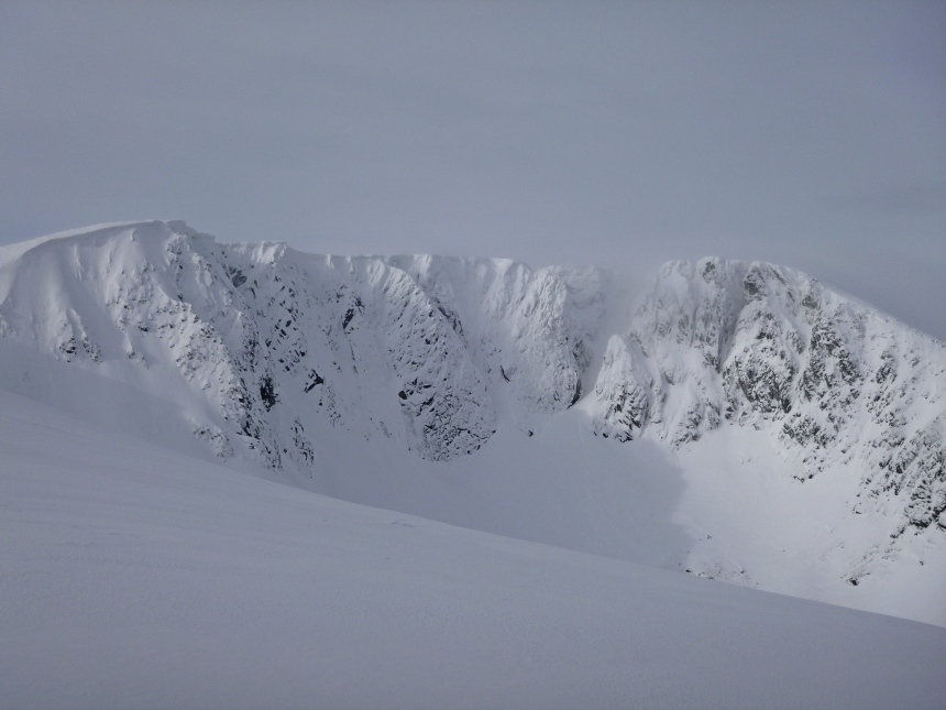 Looking into the cliffs of Lochnagar