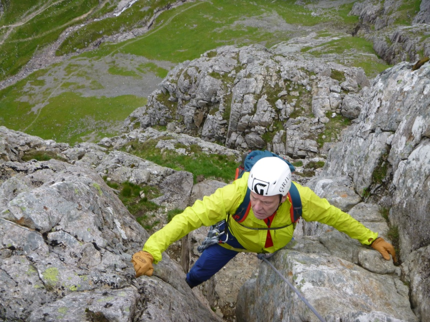 John getting to grips with Castle Ridge - Ben Nevis