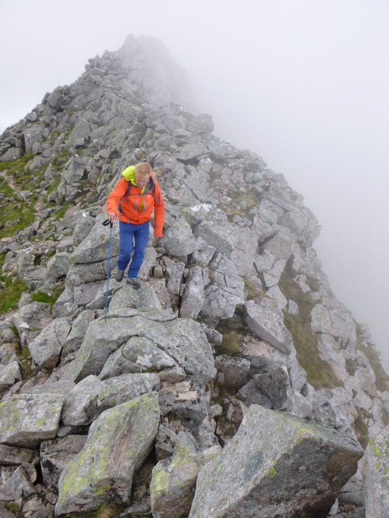 'Feeling it' toward the end of a big day CMD Arête - Carn Mor Dearg