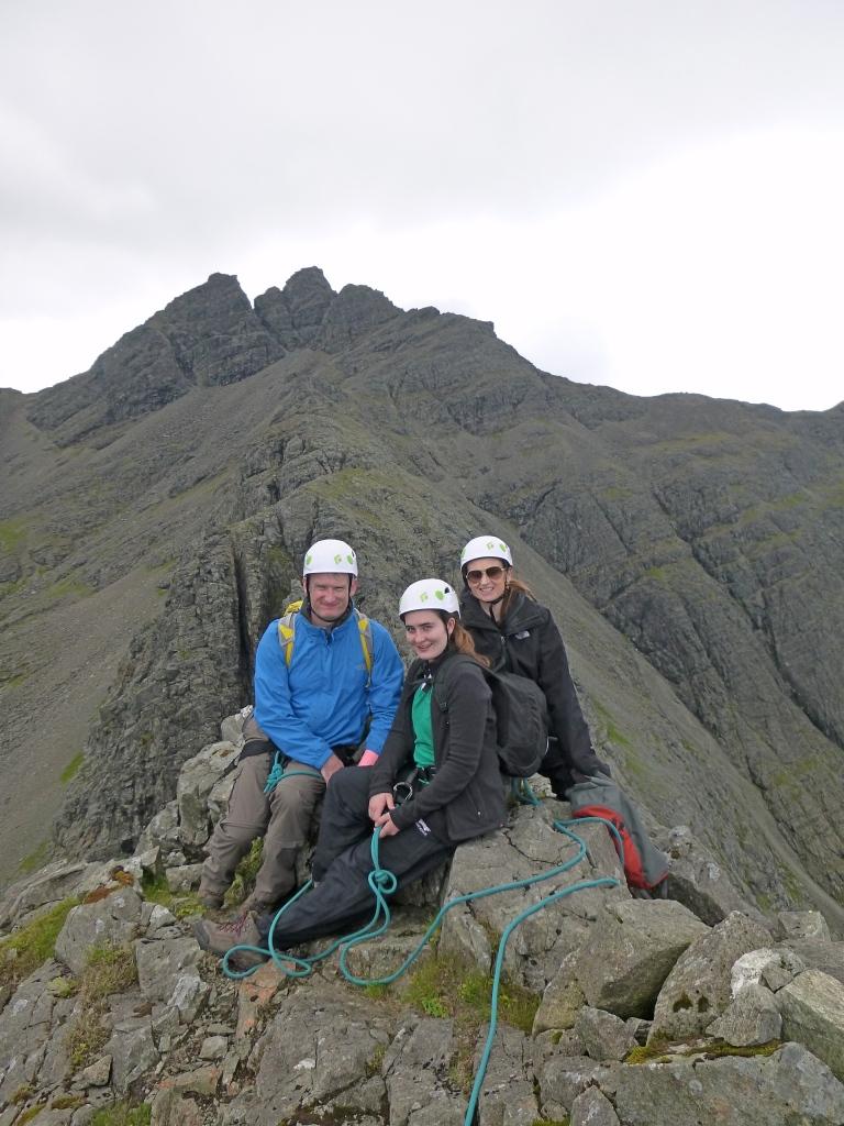 Peter, Joy and Olivia on top of Sgurr an Fheadain
