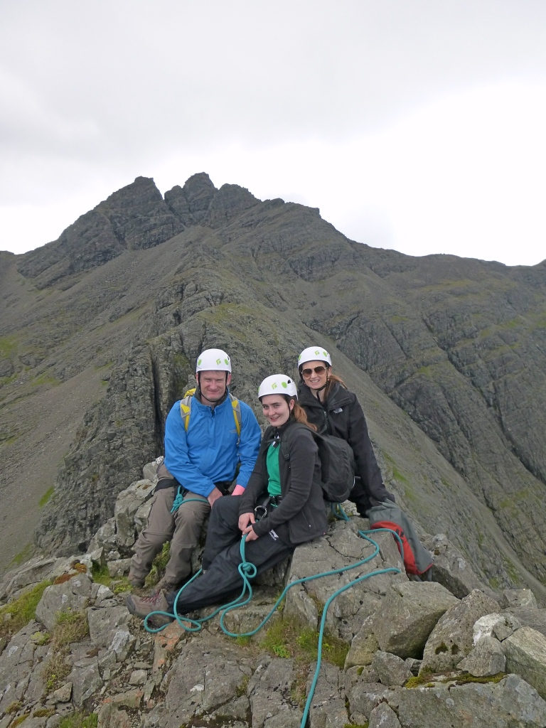 Peter, Joy and Olivia on top of Sgurr an Fheadain