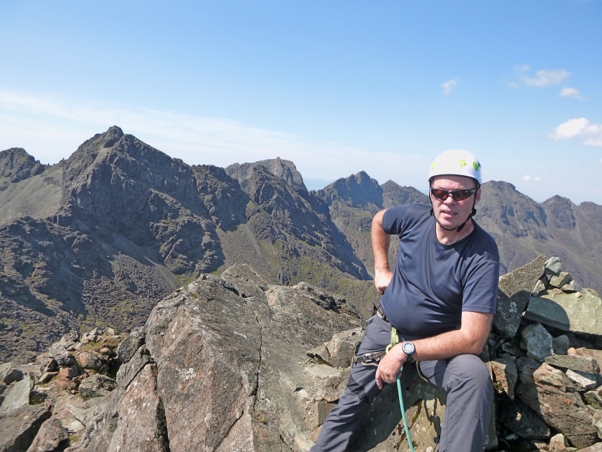 Duncan atop Sgurr nan Eag