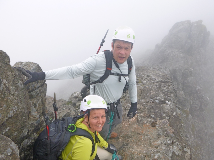 Jon and Patricia enjoying their first mountaineering experience