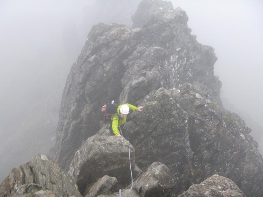 Frank tackling Sgurr nan Gillean West Ridge