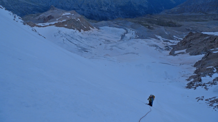 Looking down the NW Face of Gran PAradiso