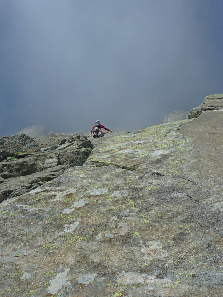 First Crux on Voie Frison-Roche