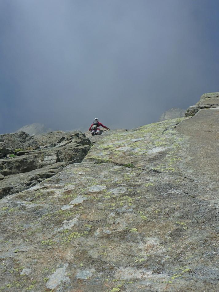First Crux on Voie Frison-Roche