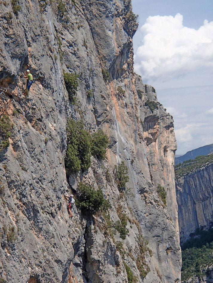 Me and Ken climbing Les Deux doigts dans le nez