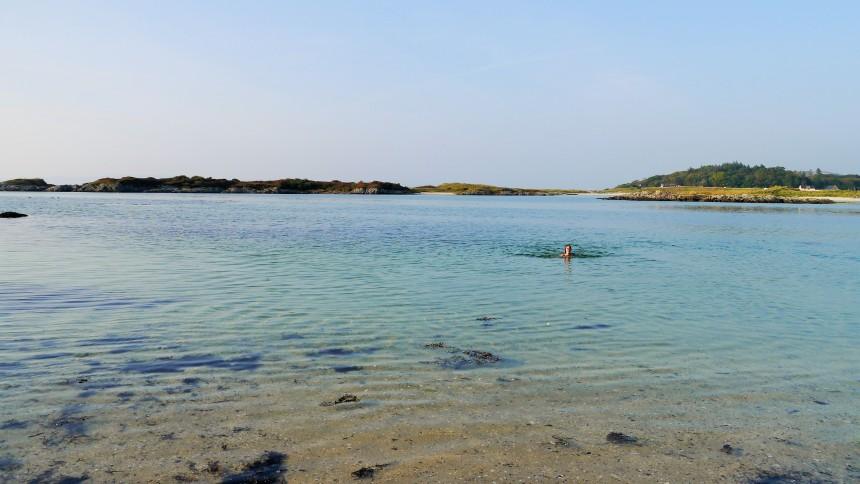 Swimming at Arisaig - amazing! (Photo: Inside The Lens)