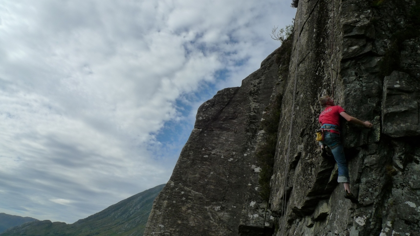 Kev working his potential new route