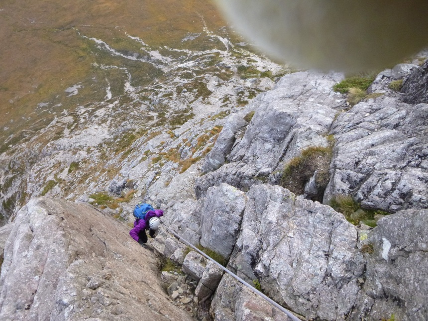 North Buttress on Buachaille Etive Mor in prime condition