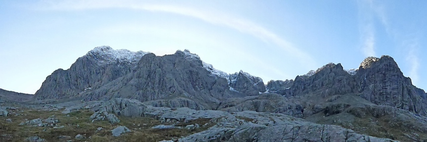 Ben Nevis North Face, not quite winter yet.....