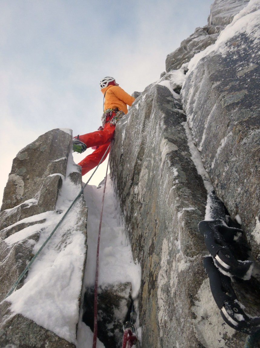 The second pitch of Crest Route