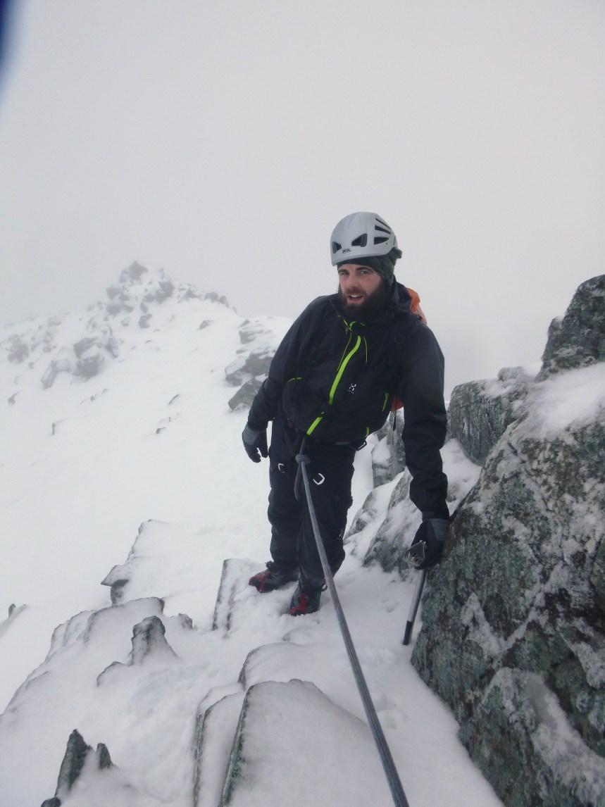 Mark enjoying Ledge Route