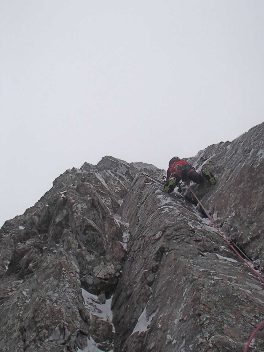 The first pitch produced some great climbing
