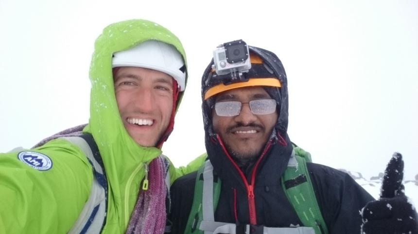 Stob Coire nan Lochan summit selfie