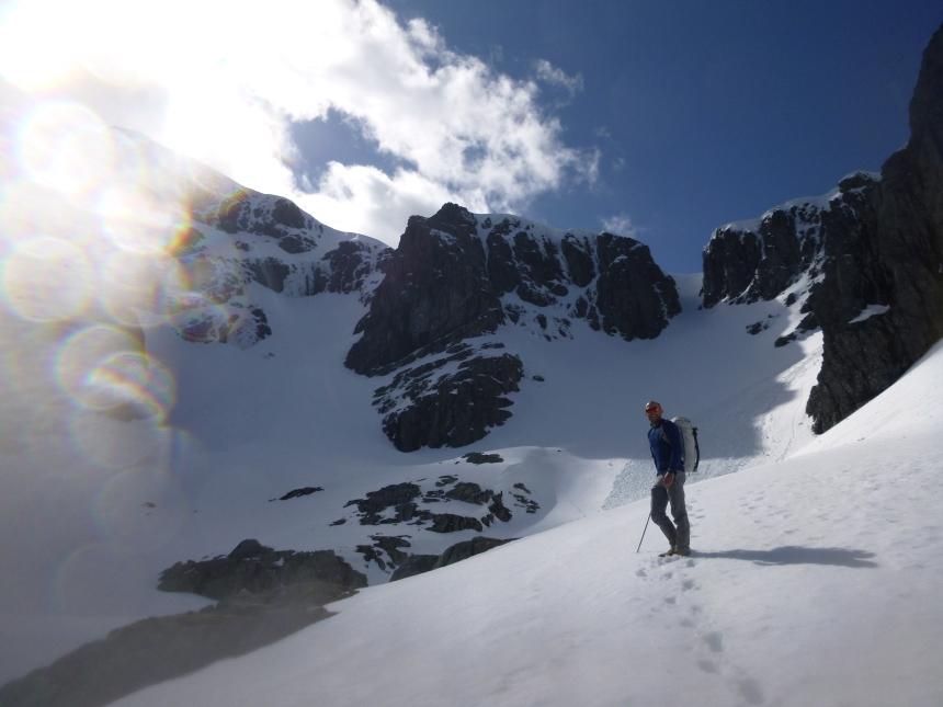 Ben Nevis, still with plenty of snow and ice