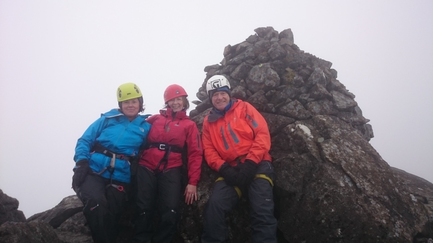 Happy ontop of Sgurr nan Eag
