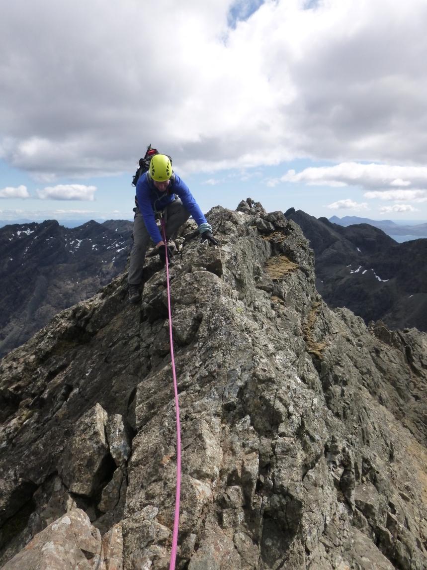 Quality section of the ridge - Sgùrr a' Ghreadaidh......