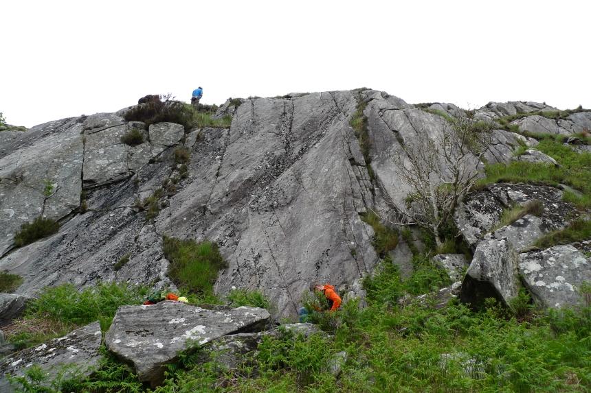 A new bit of slab climbing at Lochailort