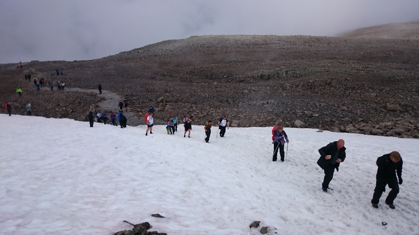Still lots of snow about - and people