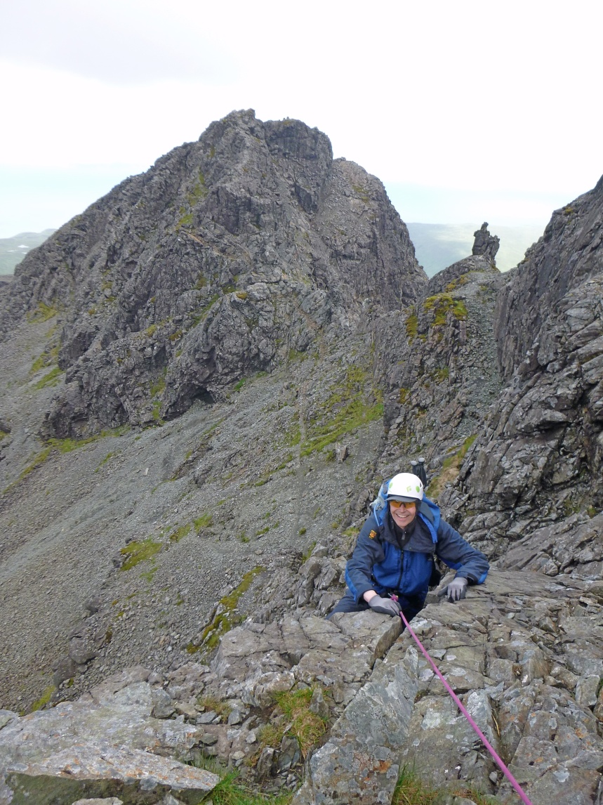 A happy Sandy, this time on Sgurr Alasdair he actually gets some views!