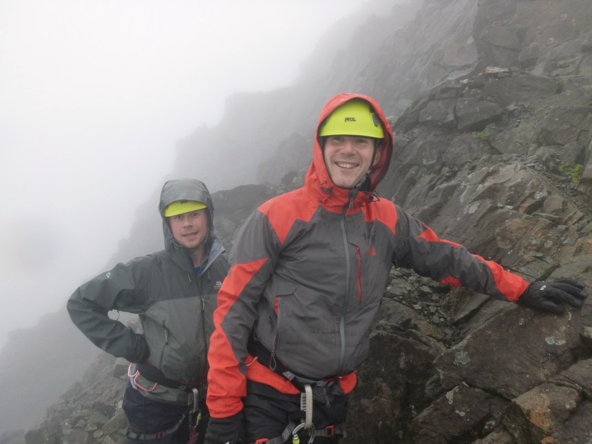 Wet and windy on Sgùrr a' Mhadaidh