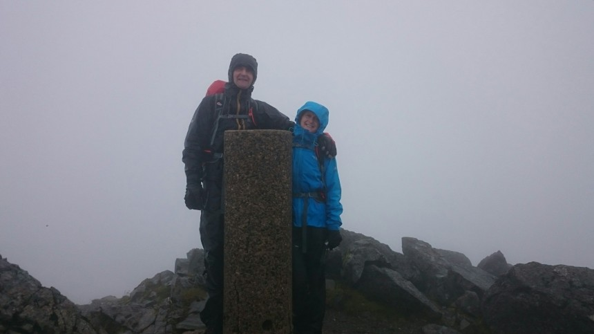 The summit of Bruach na frithe, the only trig in the main Cuillin range