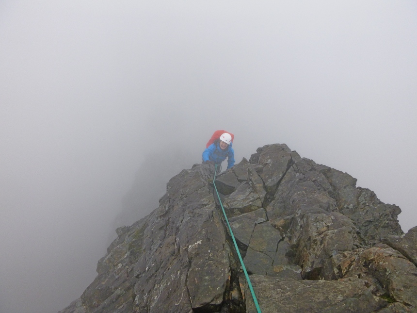 The Inn Pinn is still fun in the wind and rain!