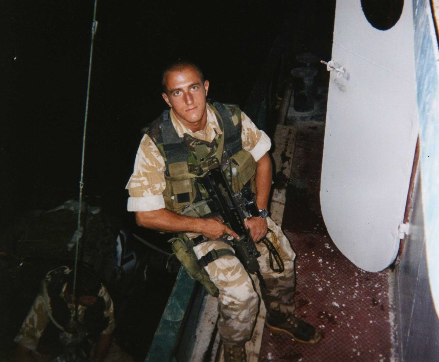 Boarding vessels in Iraq a few days after my 21st Birthday