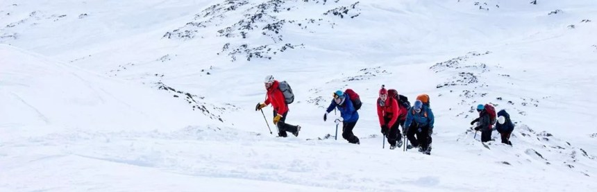 Teaching winter skills on Aonach Mor