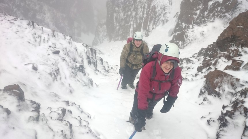Approaching the top of N.4 Gully