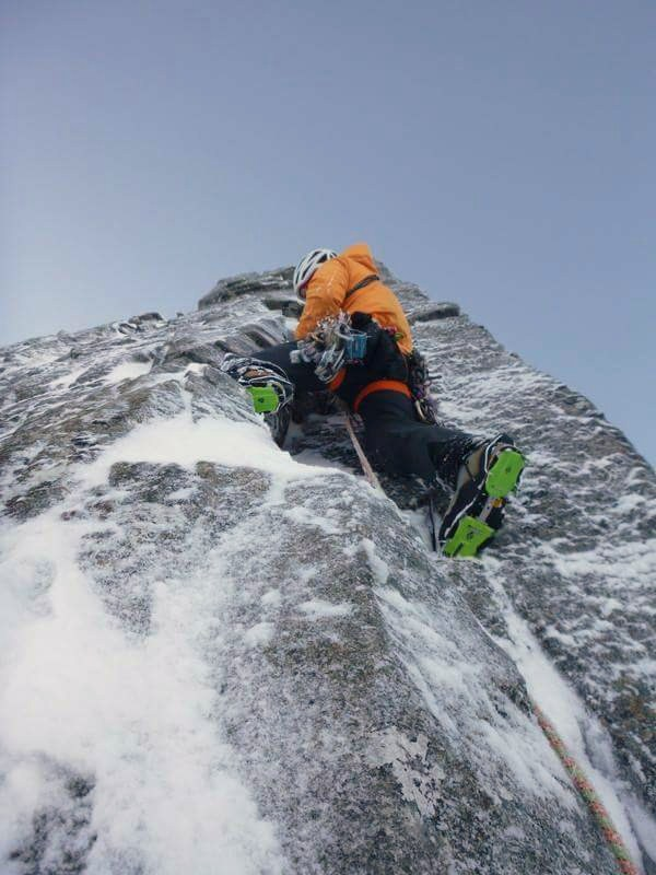 Me on the top pitch  (photo Ken Applegate)