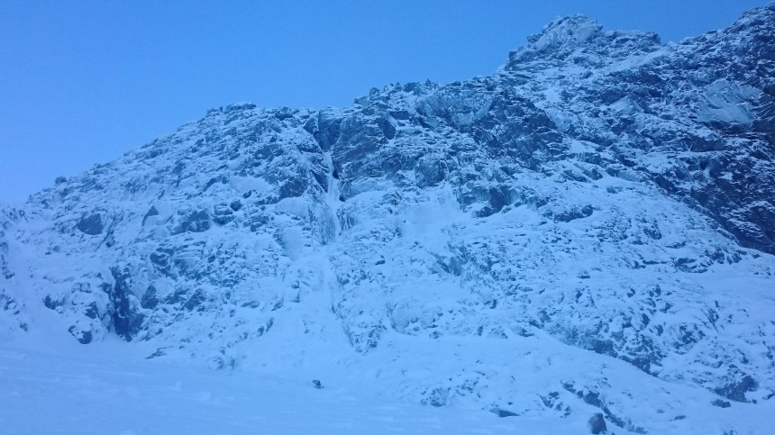 Vanishing Gully looked climbable today