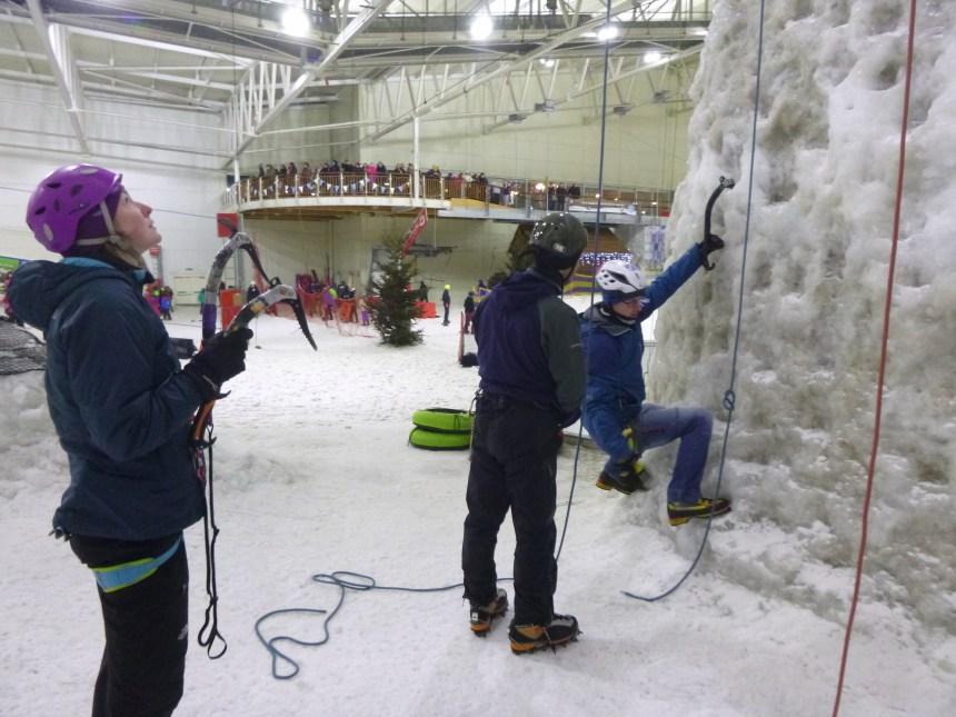 Kev Shields teaching at Snow Factor, Glasgow