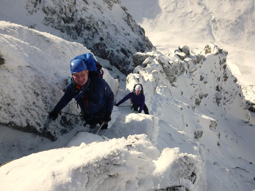 Joe and Will happy climbers
