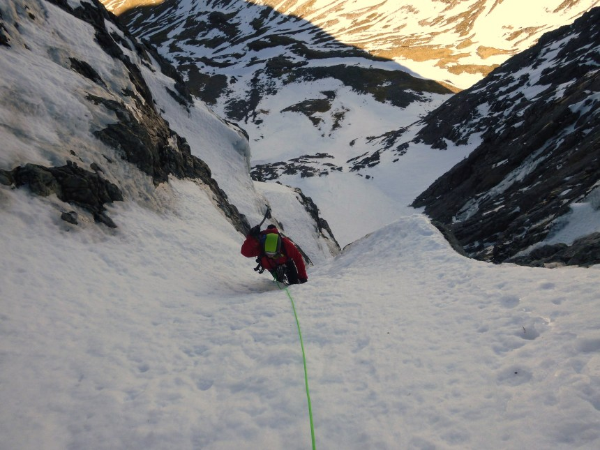 Climbing the exit slopes