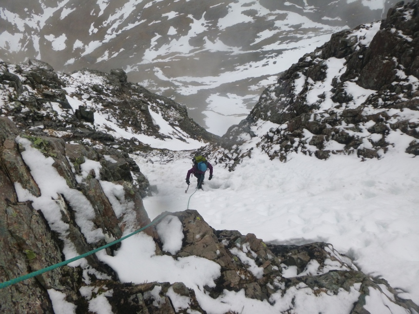 Pip climbing Ledge Route