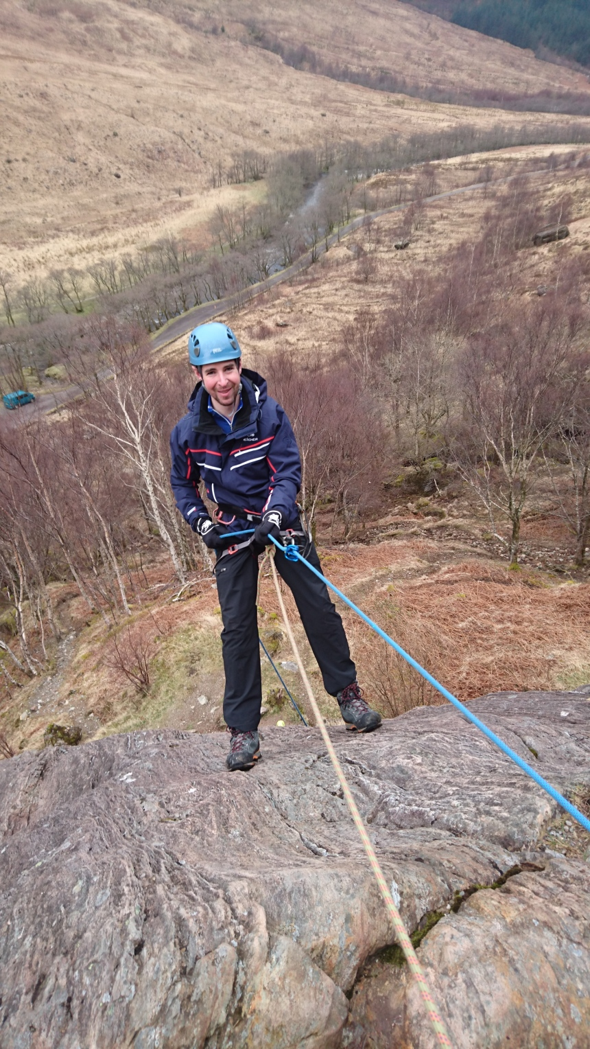 Paul enjoying abseiling