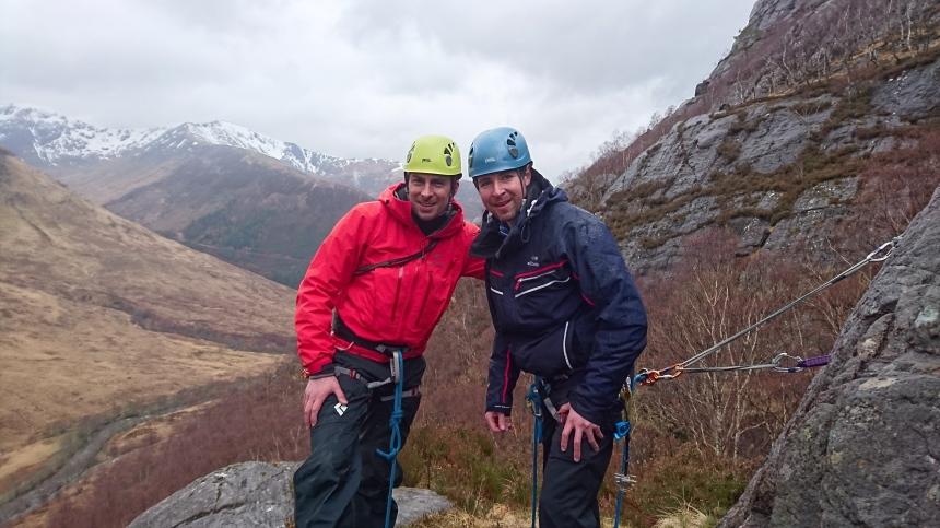 Happy mountaineers