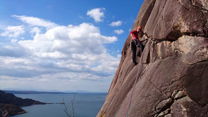 Colin starting up P2 (E1,5b) 'The Black Streak'