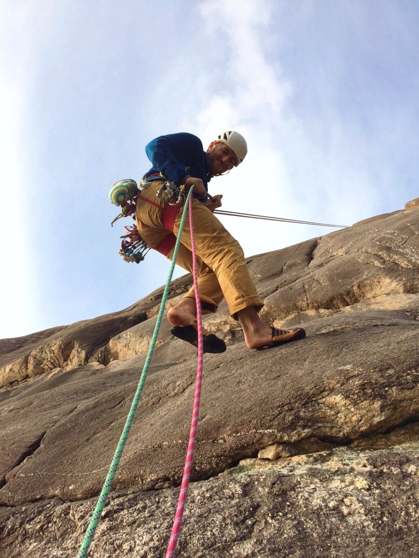 A very handy abseil gets you directly back to your bags