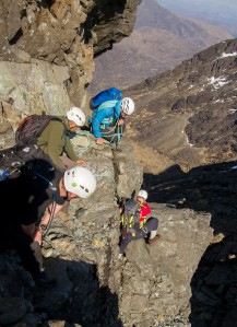 Working hard on the Cuillin Ridge (Photo: John Mitchell)