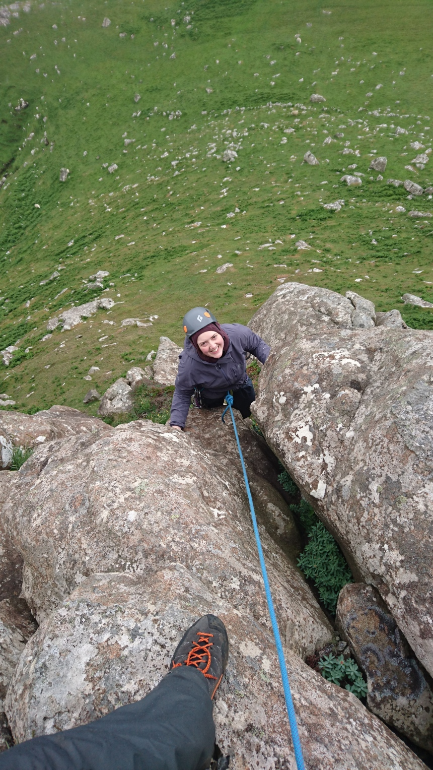 Rebecca Climbing 'Keeping the BOFs Happy'