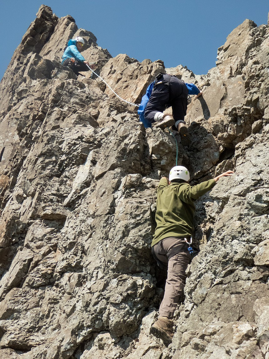 Ideal approach shoe for dry weather scrambling and climbing. Used here working on the 'Inn Pinn' Skye